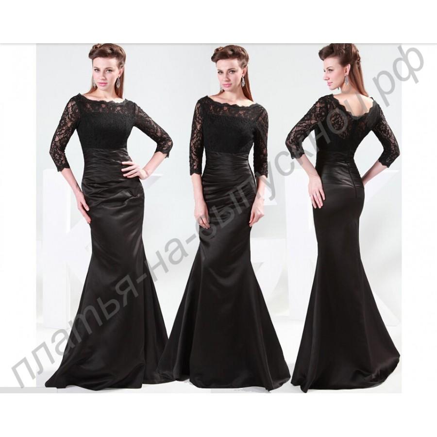 Черные платья с кружевами доставка